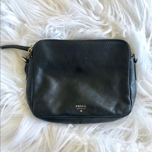 Fossil leather Sydney Crossbody Black *No strap*